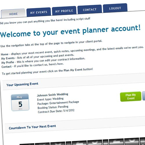 Dj Event Planner | Event And Wedding Client Portals - Customer